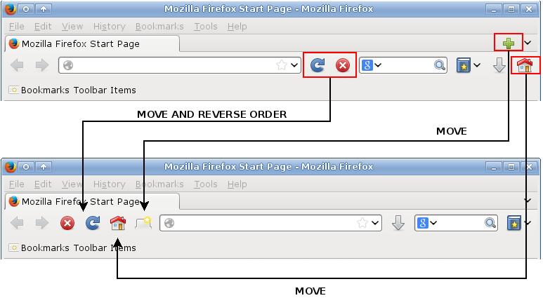 Firefox oldschool toolbar | slackalaxy